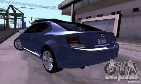 Scion Tc 2012 pour GTA San Andreas vue de droite