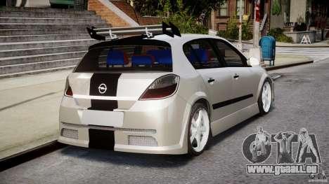 Opel Astra 1.9 TDI 2007 pour GTA 4 vue de dessus