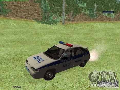 LADA 2112 DPS Police pour GTA San Andreas laissé vue