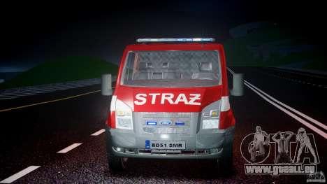 Ford Transit Polish Firetruck [ELS] pour GTA 4 vue de dessus
