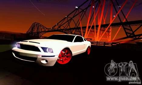 Shelby GT500 KR pour GTA San Andreas moteur
