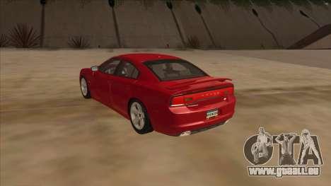 Dodge Charger RT 2011 V1.0 pour GTA San Andreas sur la vue arrière gauche