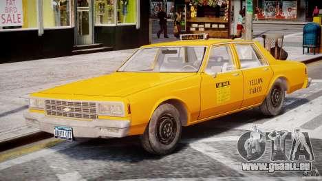 Chevrolet Impala Taxi 1983 [Final] pour GTA 4 est un côté