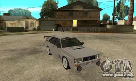 Audi Quattro für GTA San Andreas Seitenansicht