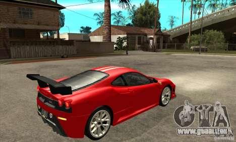 Ferrari F430 Scuderia 2007 FM3 für GTA San Andreas rechten Ansicht