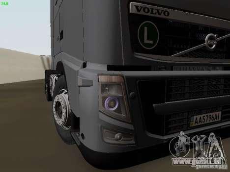 Volvo FH13 Globetrotter für GTA San Andreas Unteransicht