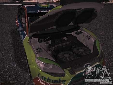 Ford Focus RS WRC 2010 für GTA San Andreas Unteransicht