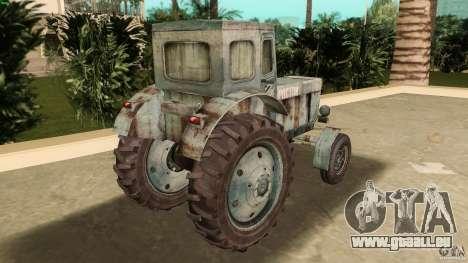 Tracteur t-40 pour GTA Vice City sur la vue arrière gauche