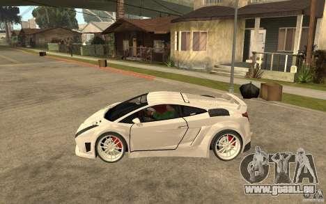 Lamborghini Gallardo MW für GTA San Andreas linke Ansicht