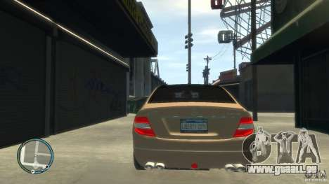 Mercedes-Benz C63 pour GTA 4 vue de dessus