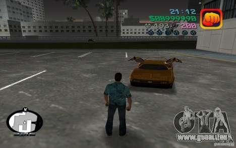 Delorean DMC-13 pour une vue GTA Vice City de la gauche