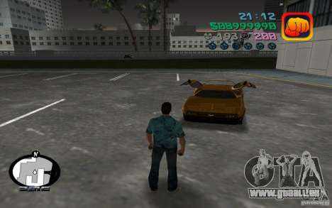 Delorean DMC-13 für GTA Vice City linke Ansicht