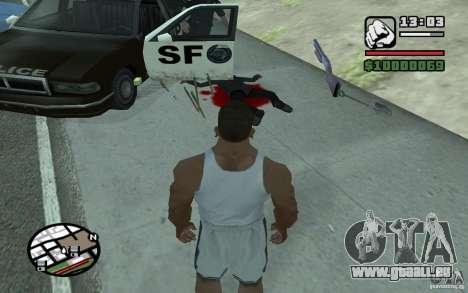 Jeter les pelles pour GTA San Andreas deuxième écran