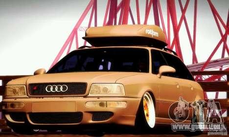Audi RS2 Avant Thug pour GTA San Andreas vue intérieure