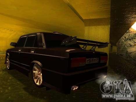 VAZ 2107 X-Style pour GTA San Andreas laissé vue