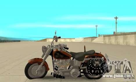 Harley Davidson FLSTF (Fat Boy) v2.0 Skin 2 pour GTA San Andreas laissé vue