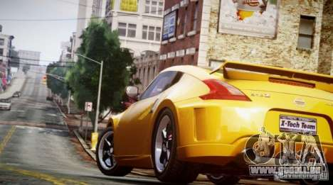 Nissan 370Z Final für GTA 4 hinten links Ansicht
