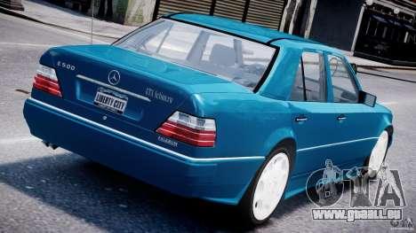 Mercedes-Benz W124 E500 1995 pour GTA 4 Vue arrière de la gauche