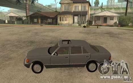 Mercedes Benz W126 560 1990 pour GTA San Andreas laissé vue