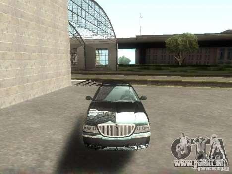 Lincoln Town car sedan pour GTA San Andreas vue arrière