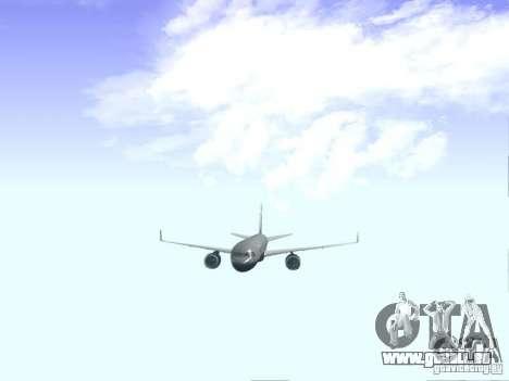 Boeing 757-200 United Airlines für GTA San Andreas Innenansicht