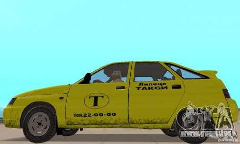VAZ 21124 TAXI pour GTA San Andreas sur la vue arrière gauche