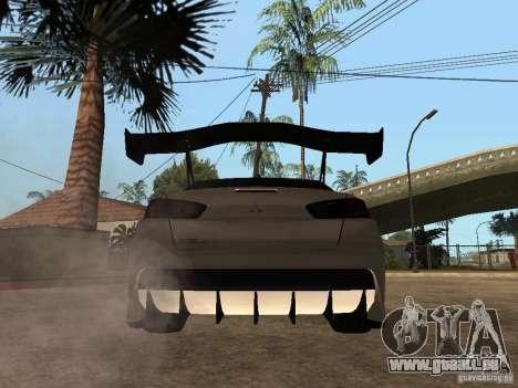 Mitsubishi Lancer Evolution X Drift Spec für GTA San Andreas zurück linke Ansicht