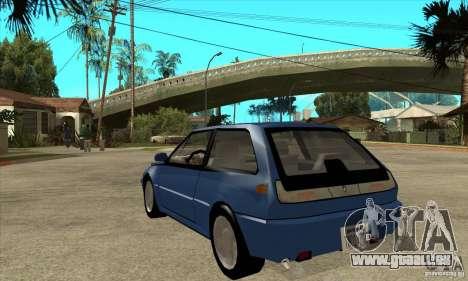 Volvo 480 Turbo für GTA San Andreas zurück linke Ansicht