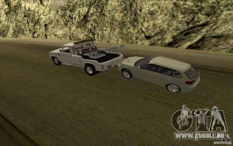 Chevrolet dépanneuse pour GTA San Andreas vue intérieure