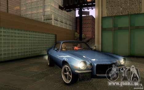 Chevrolet Camaro Z28 für GTA San Andreas Unteransicht
