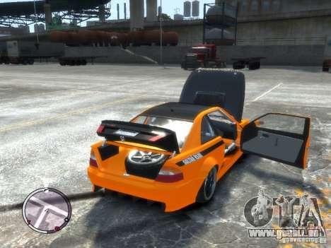Sultan RS HD FreeStyle Team pour GTA 4 Vue arrière