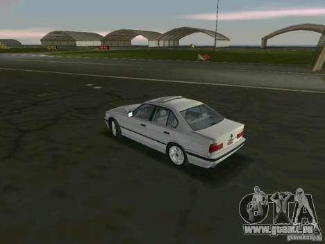BMW 540i (E34) 1992 pour GTA Vice City sur la vue arrière gauche