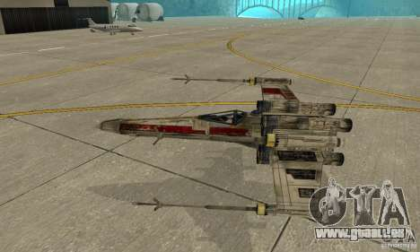 X-WING de Star Wars v1 pour GTA San Andreas vue de côté
