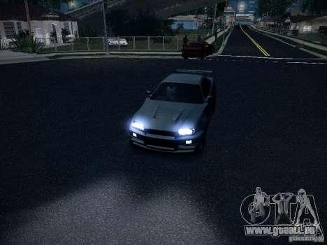 Nissan Skyline Z-Tune pour GTA San Andreas vue arrière