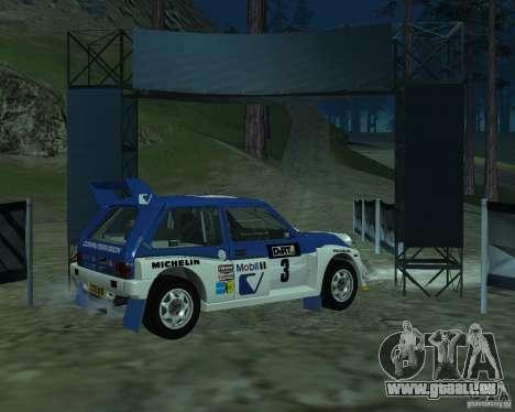 MG Metro 6M4 Group B pour GTA San Andreas sur la vue arrière gauche