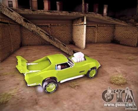 Chevrolet Corvette drag pour GTA San Andreas vue de droite
