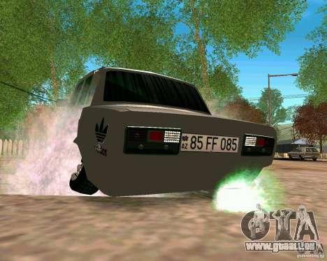VAZ 2107 complet pour GTA San Andreas vue de droite