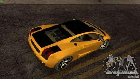Lamborghini Gallardo SE pour GTA San Andreas vue de côté