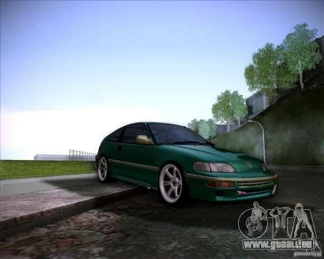 Honda Civic CRX JDM pour GTA San Andreas vue de dessous