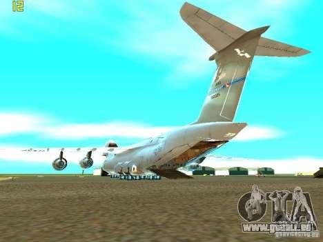 Lockheed C-5M Galaxy für GTA San Andreas linke Ansicht