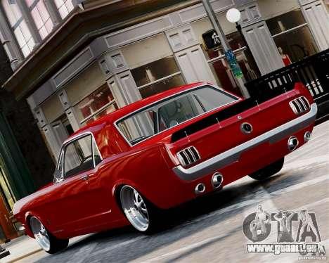 Ford Mustang GT MkI 1965 für GTA 4 hinten links Ansicht