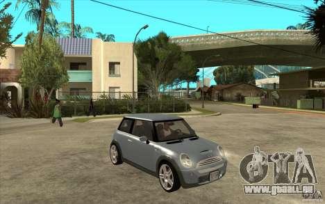 Mini Cooper - Stock pour GTA San Andreas vue arrière
