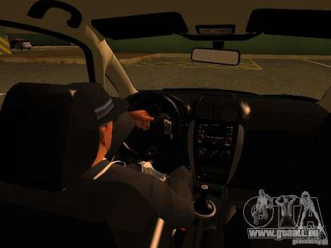 Suzuki SX-4 Hungary Police für GTA San Andreas obere Ansicht