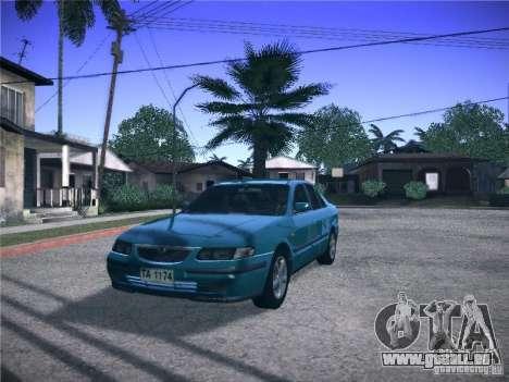 Mazda 626 GF 1999 für GTA San Andreas zurück linke Ansicht