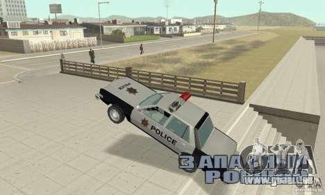 Dodge Diplomat 1985 Police für GTA San Andreas Seitenansicht