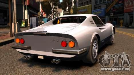 Ferrari Dino 246 GTS 1972 pour GTA 4 Vue arrière de la gauche