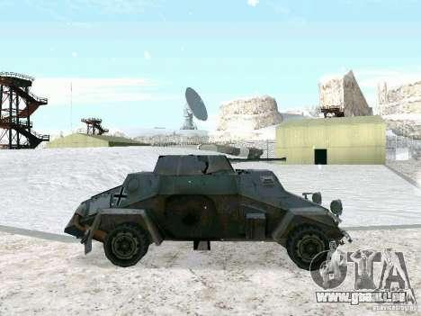 Transportpanzer des Spiels hinter den feindliche für GTA San Andreas linke Ansicht
