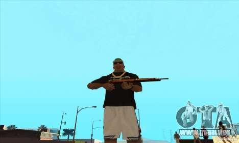 WEAPON BY SWORD pour GTA San Andreas deuxième écran