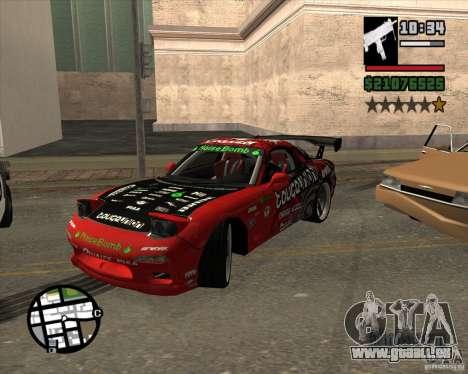 Mazda RX-7 drift king für GTA San Andreas Innenansicht
