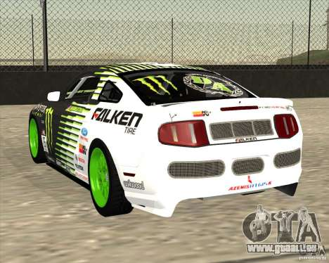 Ford Mustang GT 2010 Vaughn Gittin Jr für GTA San Andreas zurück linke Ansicht
